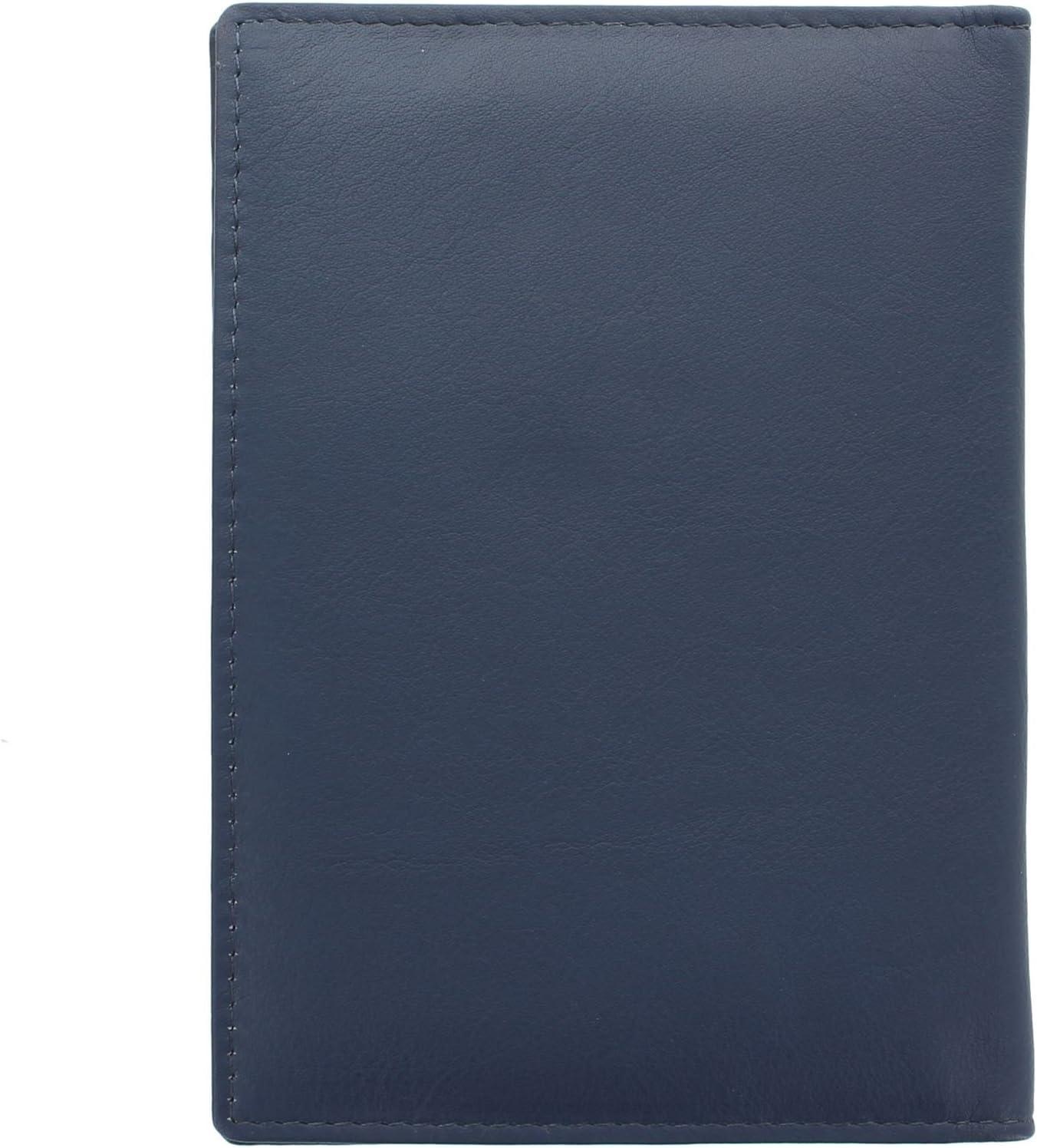 Mala Leather Colecci/ón LUCY Porta Pasaporte 209/_30 Azul marino