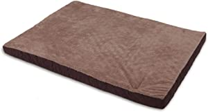 Aspen Pet Orthopedic Plush Quilted Bed, Colors May Vary, 28 x 38 Inches