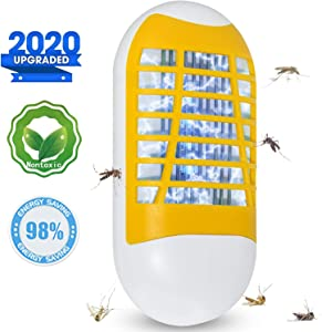 Mavvel Bug Zapper, 2020 Newest Plug-in Electronic Mosquito Killer Night Light, Eliminates Gnats Fruit Flies Flying Pests, Yellow, 2.3 in x 4.6 in