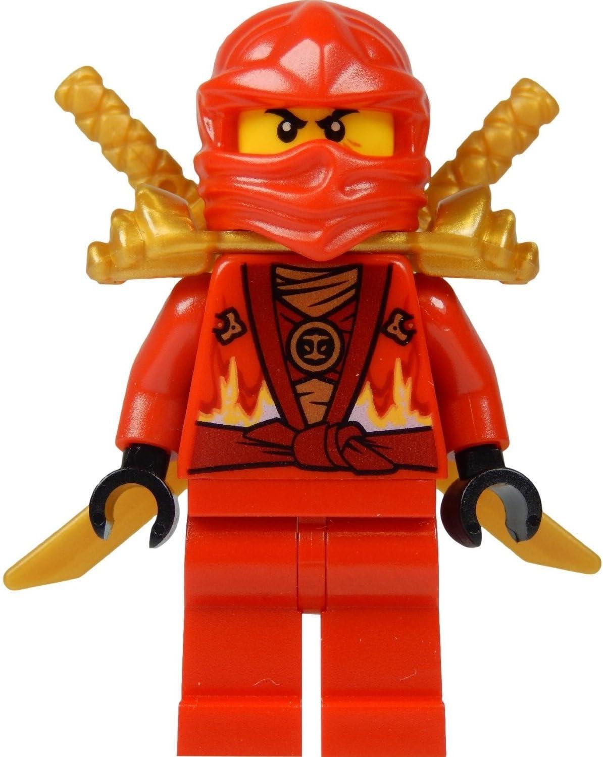 LEGO Ninjago: Kai Minifig (Red Ninja) with Two Gold Swords - Limited Edition 2015