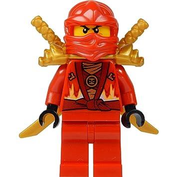 LEGO® Ninjago: Kai Minifig (Red Ninja) with Two Gold Swords ...