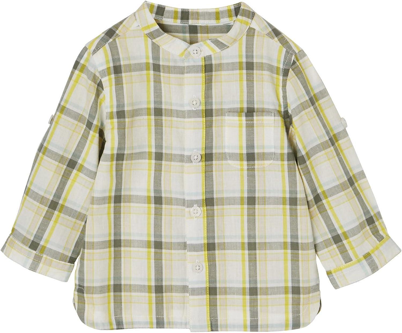 VERTBAUDET Camisa a Cuadros Grandes Tricolor, para bebé niño ...