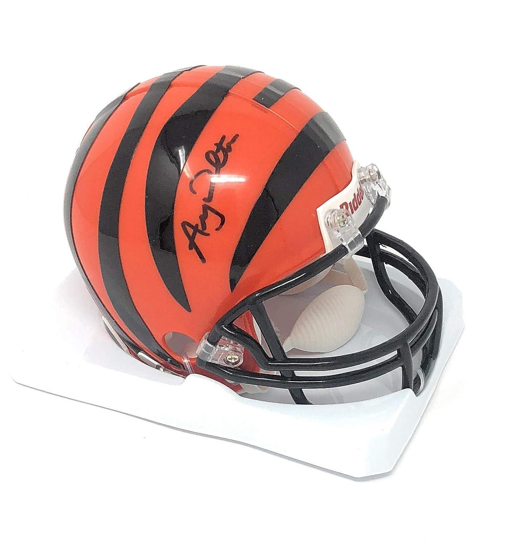 Andy Dalton Cincinnati Bengals Signed Autograph Mini Helmet Dalton GTSM Player Hologram Certified