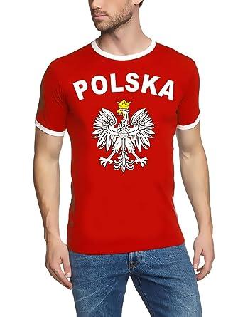 WM 2018 POLSKA Adler T-SHIRT mit Deinem NAMEN + NUMMER ! POLEN Fußball  Trikot Ringer weiß S M L XL XXL  Amazon.de  Bekleidung 68670f0e49