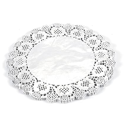 Paper Doily U2013 60 Pack Round Doilies Paper Lace Placemats For Cakes,  Desserts,