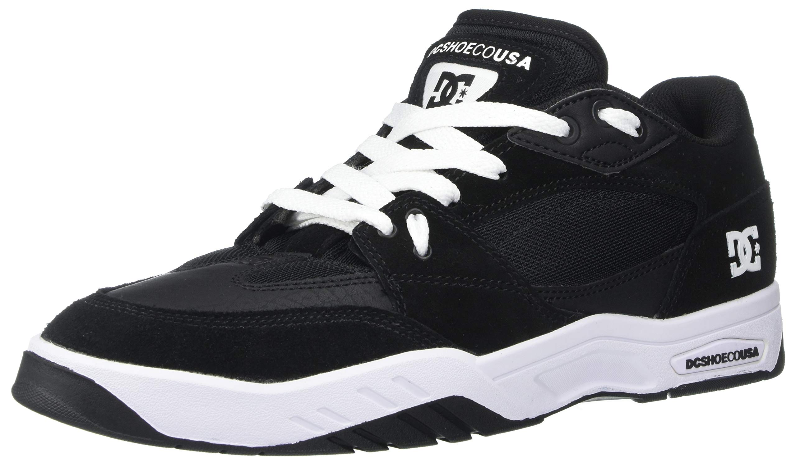 DC Men's MASWELL Skate Shoe, Black/White, 7.5 M US by DC