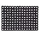 Status Contract PVC Rubber Outdoor Door Mat for Home/Bathroom/Bedroom/Rainy Season (41x61 cm, Black)