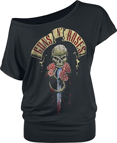 Guns N' Roses Dripping Dagger Maglia Donna Nero