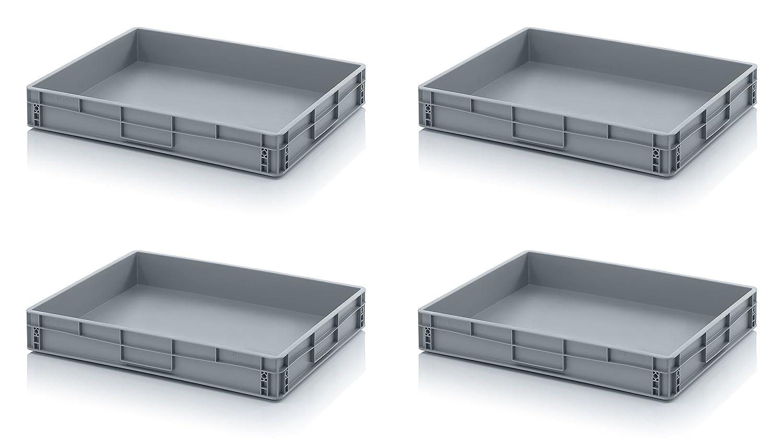 4 x Euro de cajas Euro Box 80 x 60 x 12 Incluye Regla, Juego de 4: Amazon.es: Industria, empresas y ciencia
