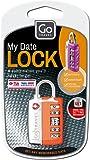 Go Travel My Date Lock Candado convencional 1pieza(s) - Candados (Candado convencional, Cerradura con combinación, Maleta, Negro, Plata, 3 cm, 1,27 cm)