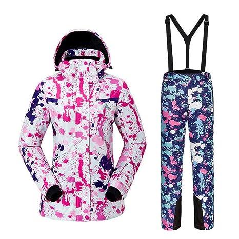 Z&X Traje de esquí de Invierno para Mujer Snowboard Impermeable ...