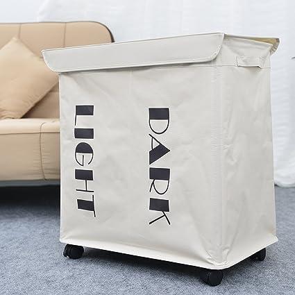 Cesta para la ropa sucia (sobre ruedas, tamaño grande bolsa para la colada,