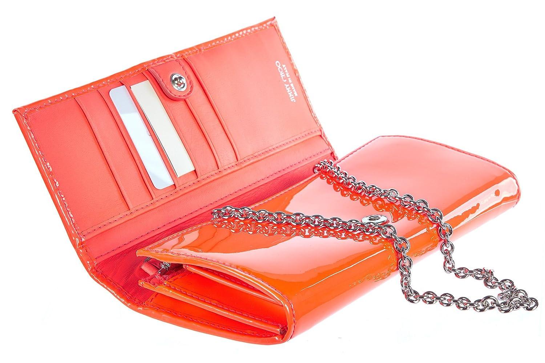 Jimmy Choo monedero cartera bifold de mujer en piel nuevo neon naranjane: Amazon.es: Zapatos y complementos