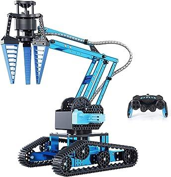DIY Zerlegen Stamm Bagger Roboter Vollmetall-Roboterarm-Bausatz Top Race Ferngesteuerter RC-Roboterarm