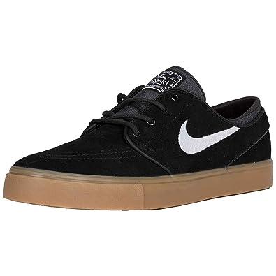 Nike SB Zoom Stefan Janoski' Kids. Black/White/Gum Light Brown.