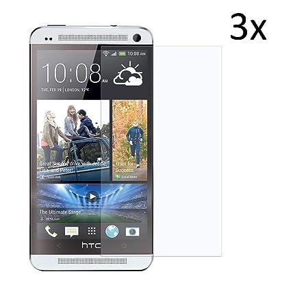 Cardana | 3X bruchsicheres Panzerglas für HTC One | Schutzfolie aus 9H Echt Glas