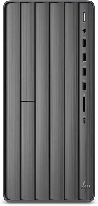 HP ENVY Desktop Computer, Intel Core i7-9700, 16GB RAM, 1TB Hard Drive, 512 GB SSD, Windows 10 (TE01-0020, Black)