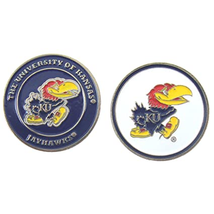 3be2006c0d3 Image Unavailable. Image not available for. Color  Kansas Jayhawks Double- Sided KU Golf Ball Marker