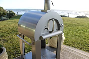 Outdoor Wood Fired Pizza Oven   Complete Package In Stainless Steel