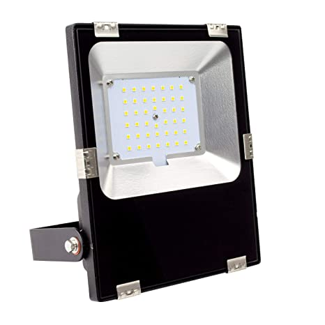 Foco Proyector LED 30W Slim Blanco Frío 5700K-6200K: Amazon.es ...