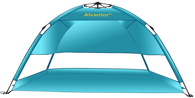 Blueshore Person Beach Tent Beach PENDING) Umbrella Sun Shelter Lightest Anti-UV Blueshore 50+ Most Stable and Easy Up Quick Cabana By Alvantor, 2-3 Person (PATENT PENDING) B07793RGDB, ブレーメンストア:34616591 --- ijpba.info