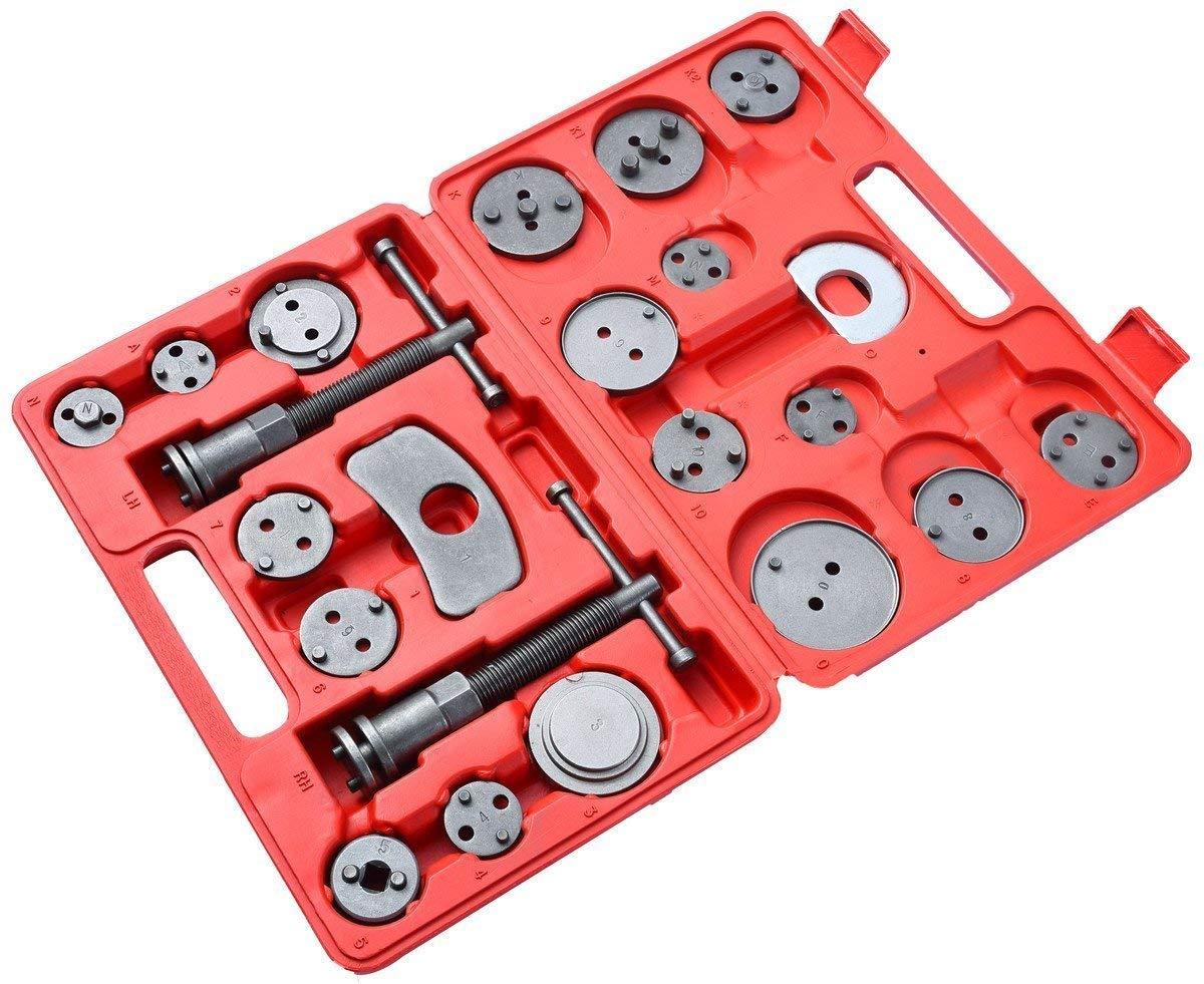 Vinkki 22pcs Brake Caliper Wind Back Tool Heavy Duty Disc Brake Piston Caliper Compressor Tool kit Fits Most American, European, Japanese Models by Vinkki (Image #6)