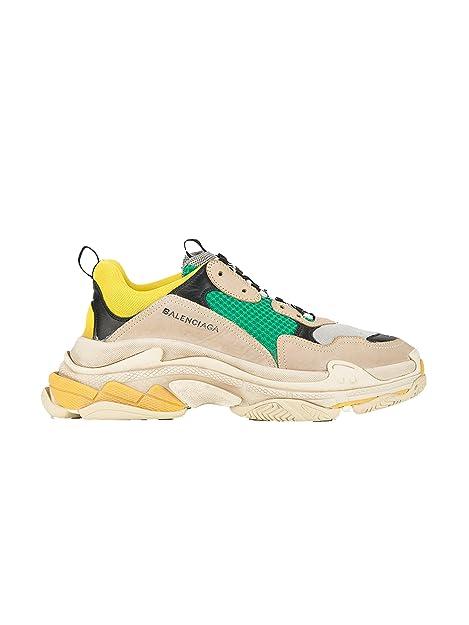Balenciaga - Zapatillas de Piel para Hombre Beige Beige, Color Beige, Talla 42 EU: Amazon.es: Zapatos y complementos