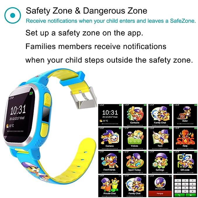Tencent qqwatch niños reloj inteligente, anti-lost reloj inteligente con GPS Tracker: Amazon.es: Electrónica