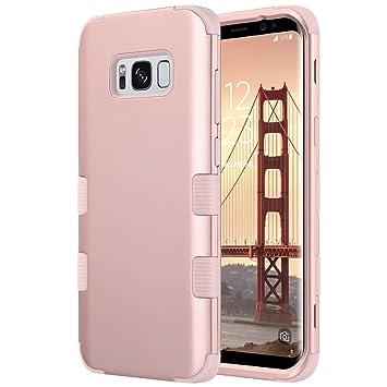 ULAK Galaxy S8 Plus Caso, S8 Plus Funda Carcasa Silicona Shockproof Case Lujo 3in1 híbrido Impact Antideslizante Cubierta Protectora Dura para Samsung ...