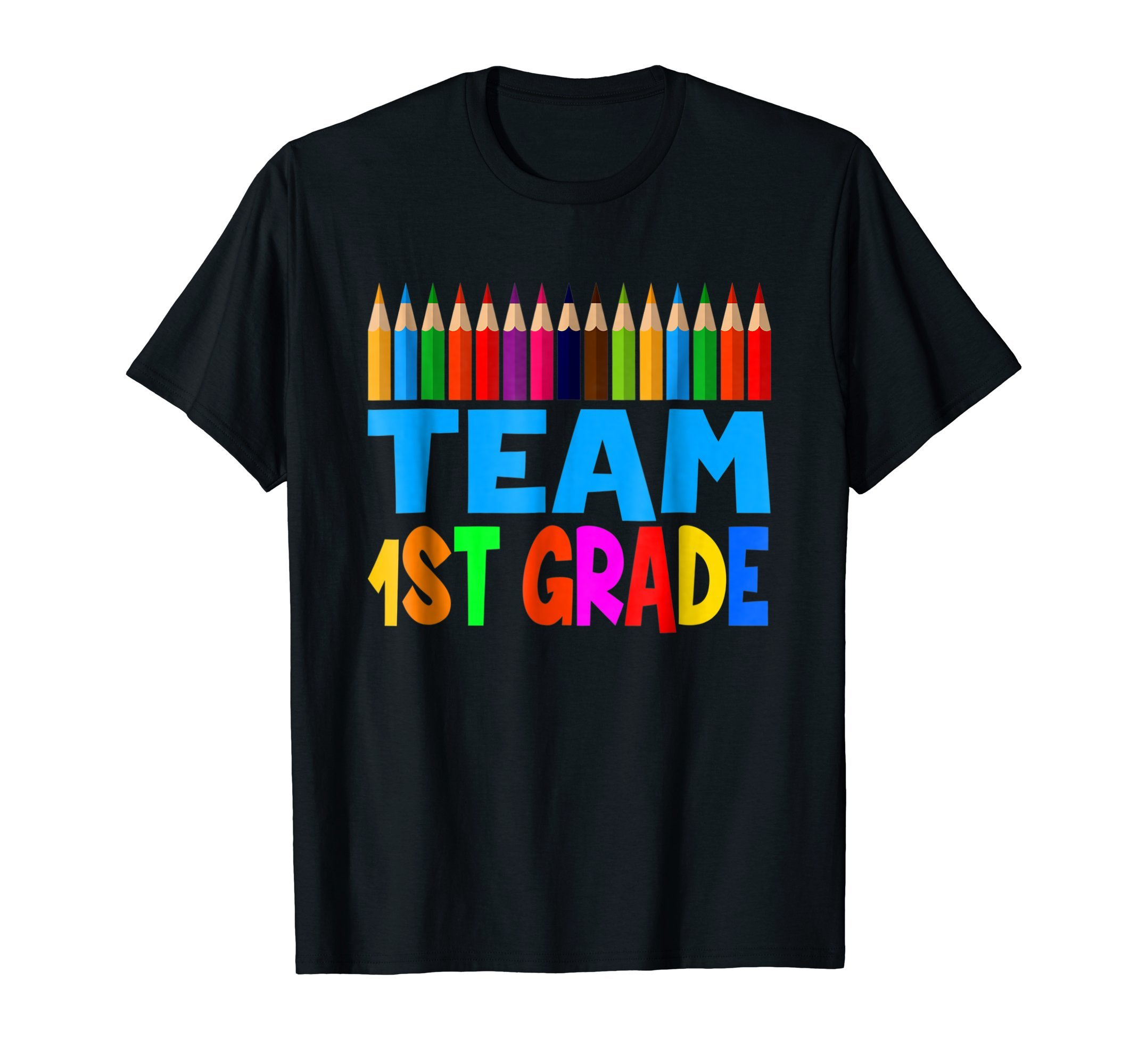 1st Grade Team Pencils Tshirts 1st Grade For Kids / Teachers