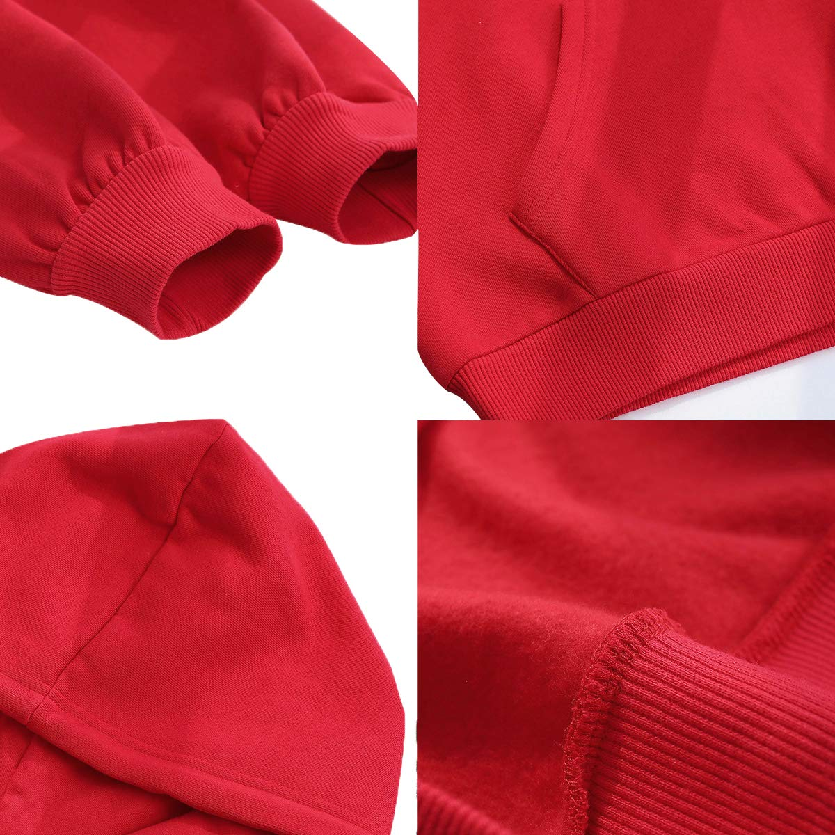 Fashion Hoodies (Red, Medium)