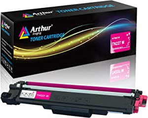 Arthur Imaging with CHIP Compatible Toner Cartridge Replacement for Brother Tn227(Magenta, 1 Pack) (TN227M)