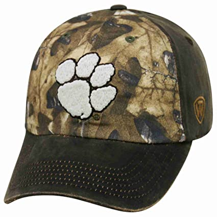 pretty nice ccf31 08a54 Image Unavailable. Image not available for. Color  Clemson Tigers TOW Brown  Realtree Camo Driftwood Adjustable Slouch Hat Cap
