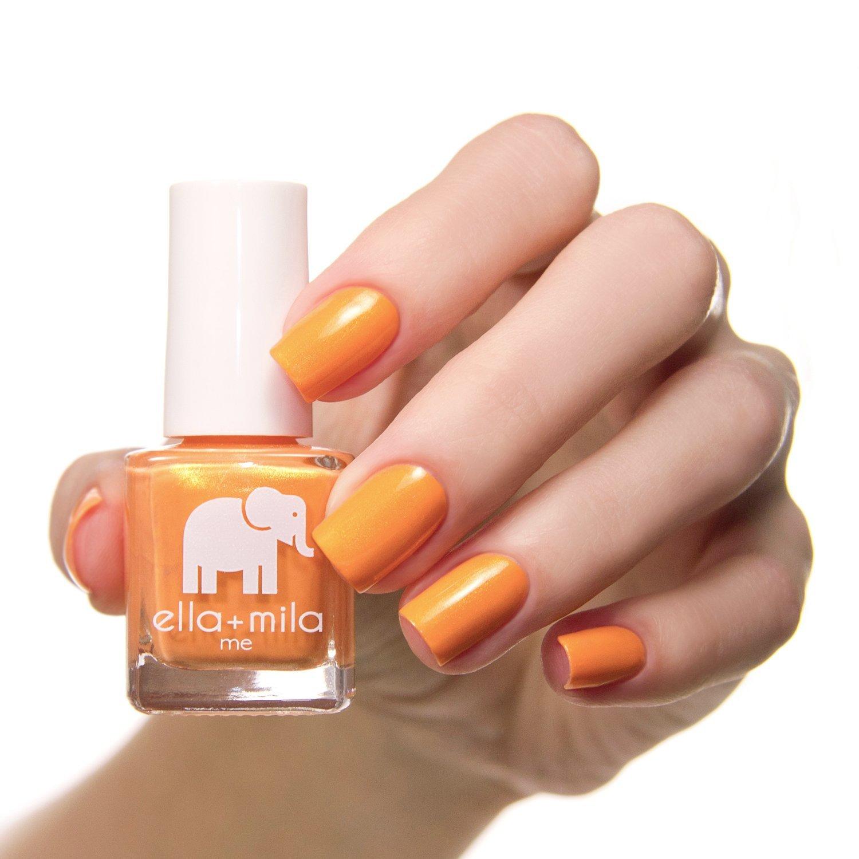 Amazon.com : ella+mila Nail Polish, Me Collection - Mango Pop : Beauty