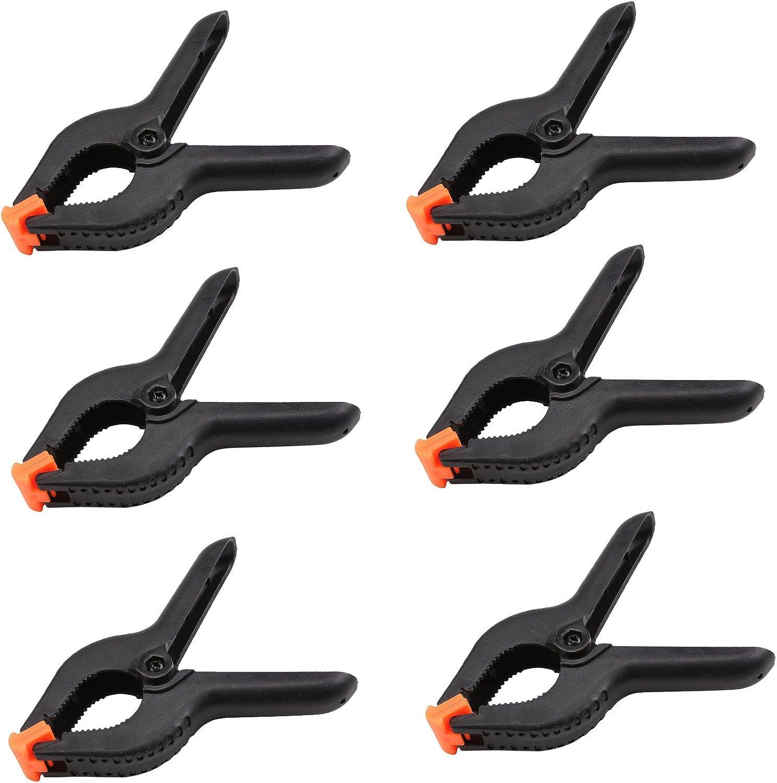 PetHot 6 Unids fuerte pl/ástico abrazaderas de resorte mercado parada de nylon Grandes tarpaulin clips conjunto hardware de montaje para Photo Studio Backdrops soporta