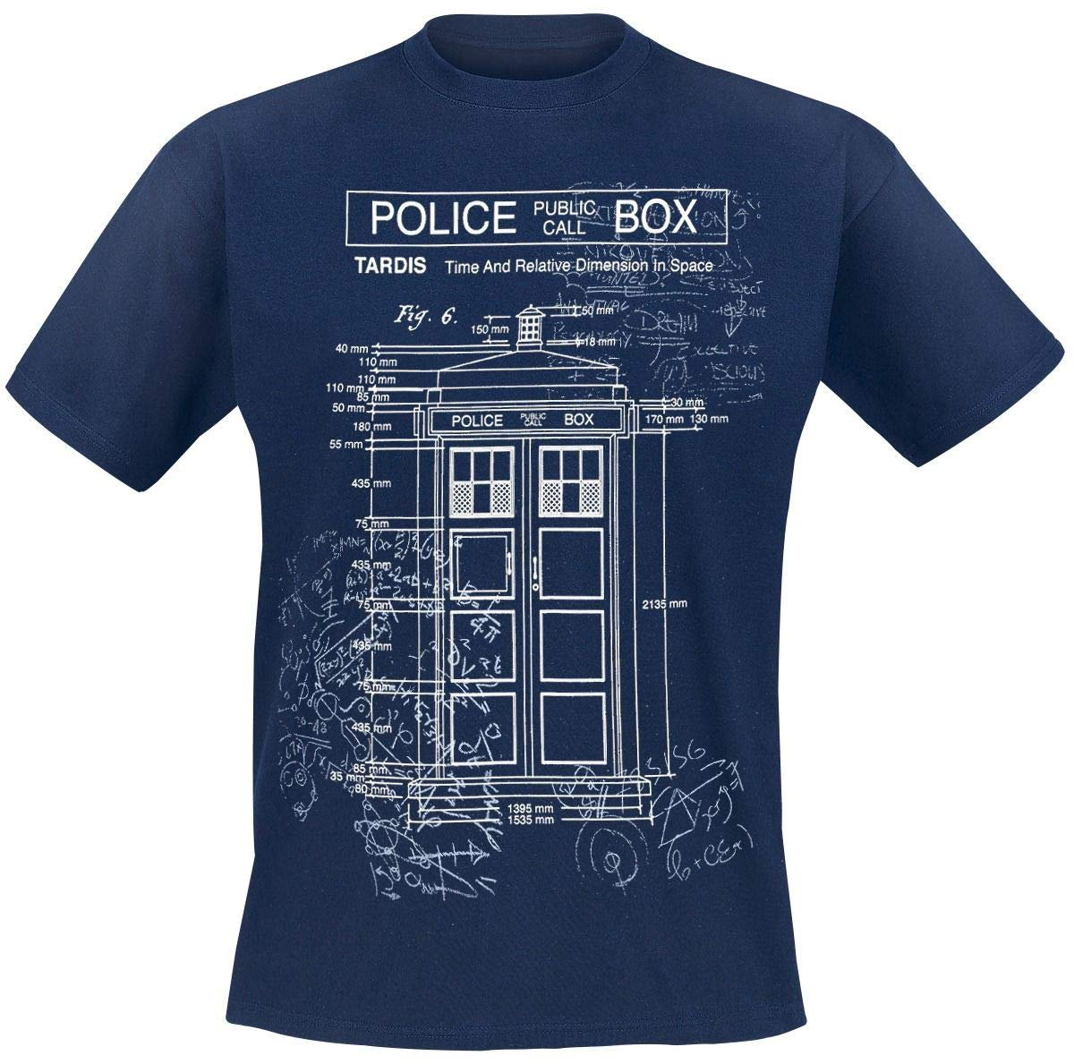 Doctor Who Classic S T Shirt Tardis Print Fig 6 Scribbles 7697