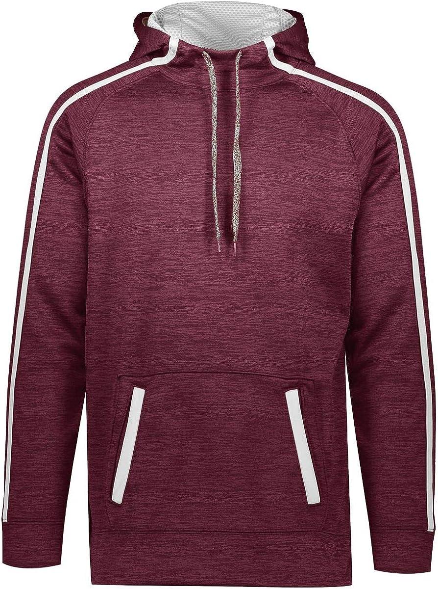 Augusta Sportswear Stoked Tonal Heather Hoodie M Black//White Sports Apparel
