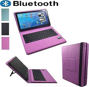 10.1 (QWERTY Teclado Bluetooth Funda/Libro Funda para Tablet Huawei MediaPad T3 10 – 10.1