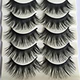 DAEDALUS® 5 Pairs Natural Long Fake Eye Lashes Thick False Eyelashes Black Makeup Tool
