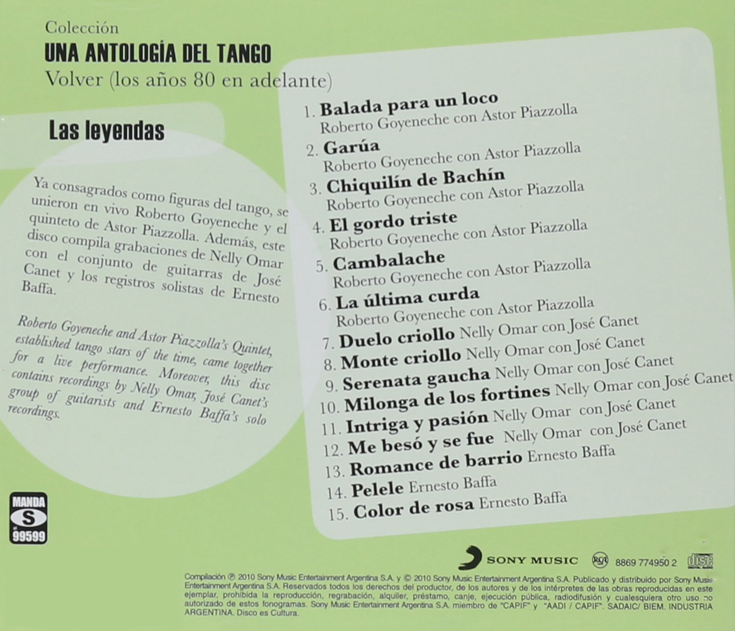Various Artists - Una Antologia Del Tango-Las Leyendas / Various - Amazon.com Music
