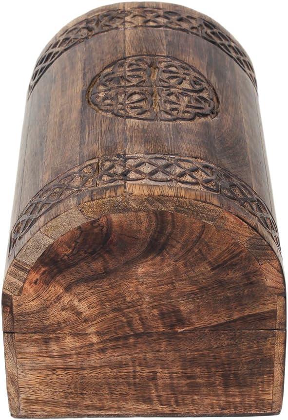 Store Indya Rustique Bois Grande Keepsake Bo?te de rangement Bijoux Organisateur polyvalent avec Celtic Carvings