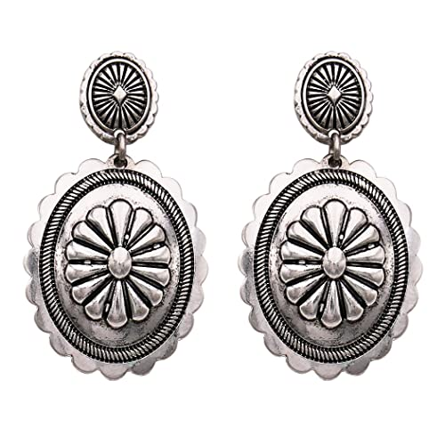 Rosemarie Collections Womens Southwest Jewelry Concho Design Dangle Earrings