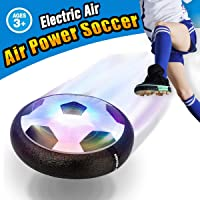Pallone da Calcio da Casa Fluttuante - VIDEN Air Football Calcio da Interno con LED Luce, Giocattoli Sportivi per Bambini Natale Regalo, Football Gioco Indoor & Outdoor Air Power Soccer Disco