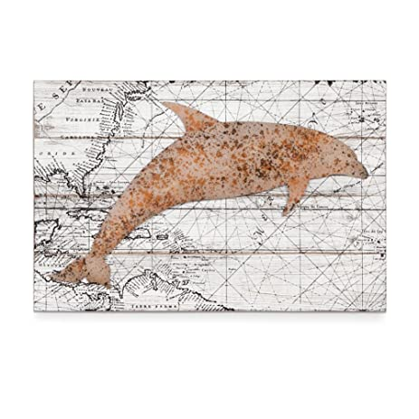 Amazon.com: Xing Cheng Home Wall Decoration Wall Art Dolphin Wood ...