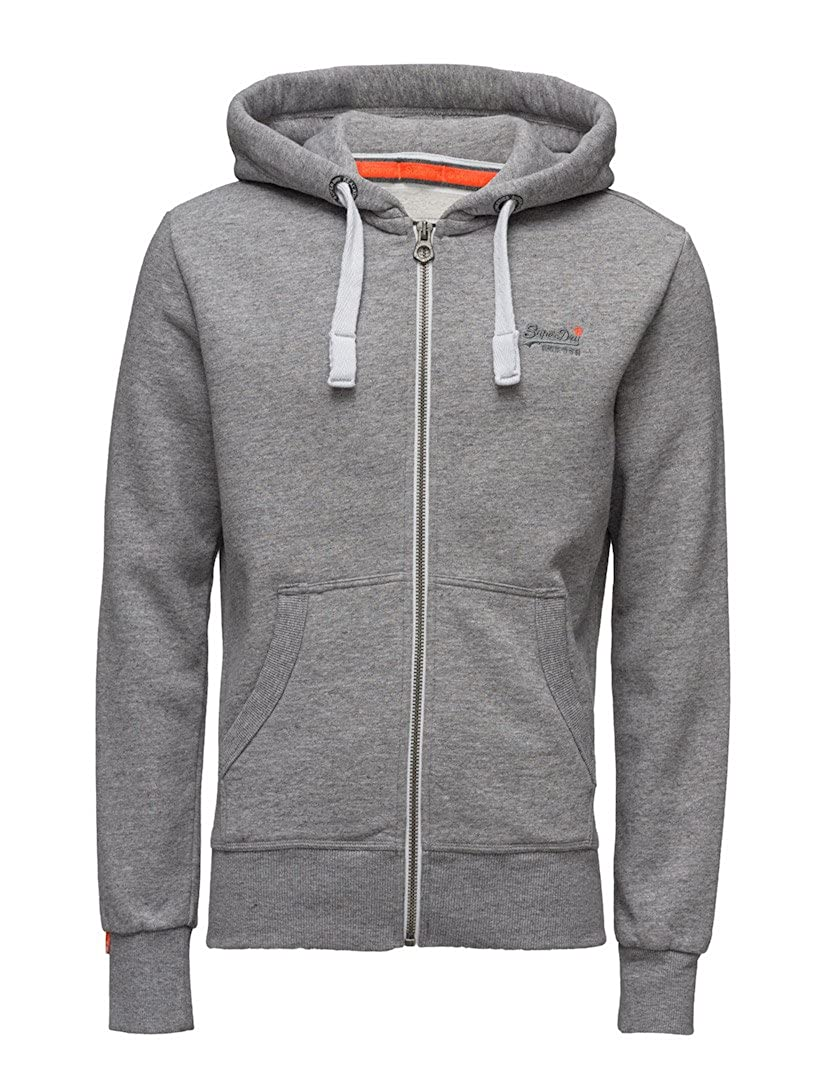 Superdry Orange Label Zip Hoodie Pearl Grau Grit