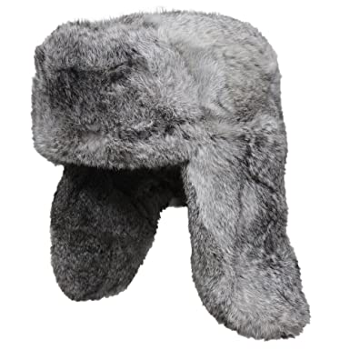Genuine Russian Rabbit Fur Ushanka Cossack Hat at Amazon Men s ... 4a10bbe98d5