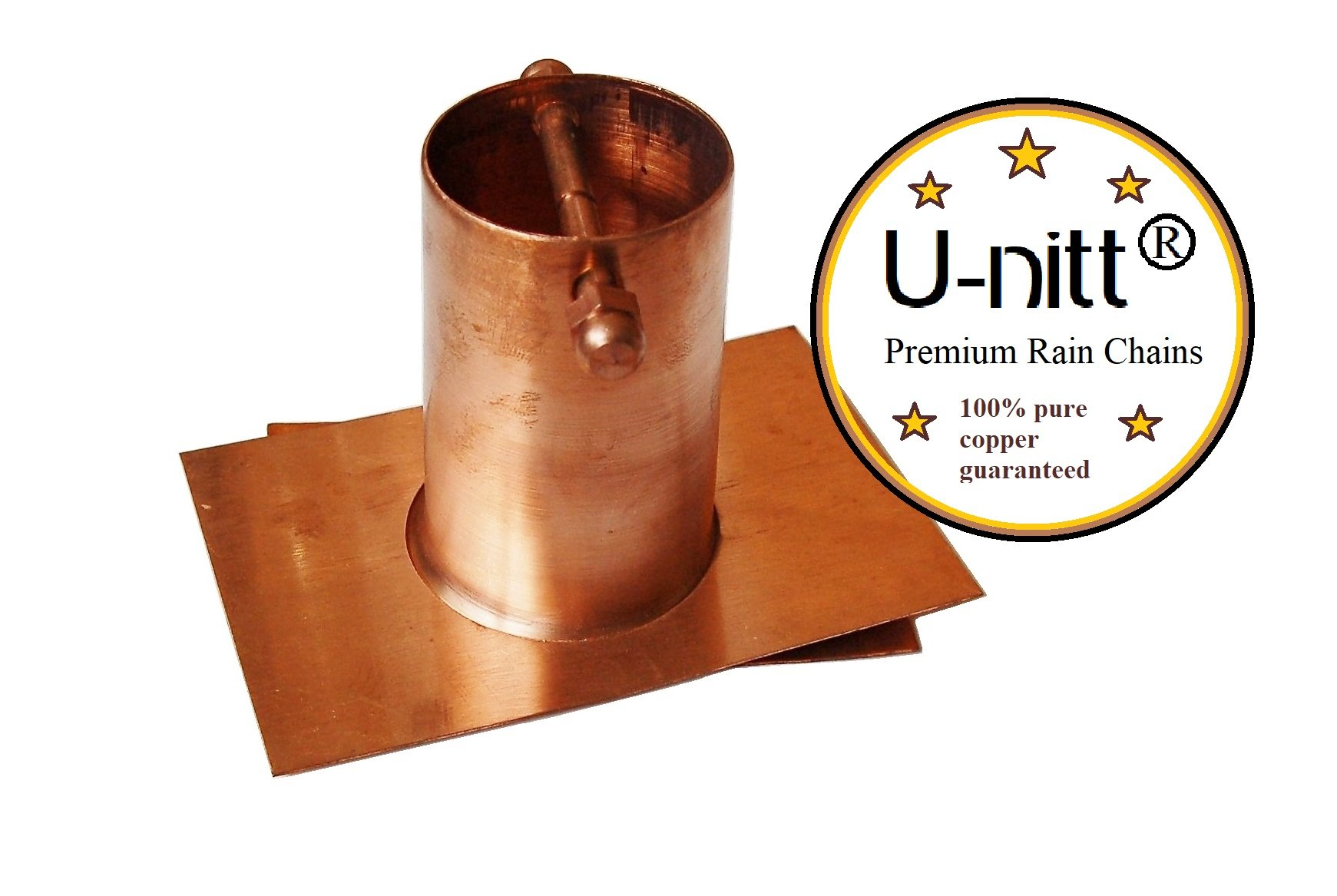U-nitt Pure Copper Gutter Installer/Adapter for Rain Chain: #975