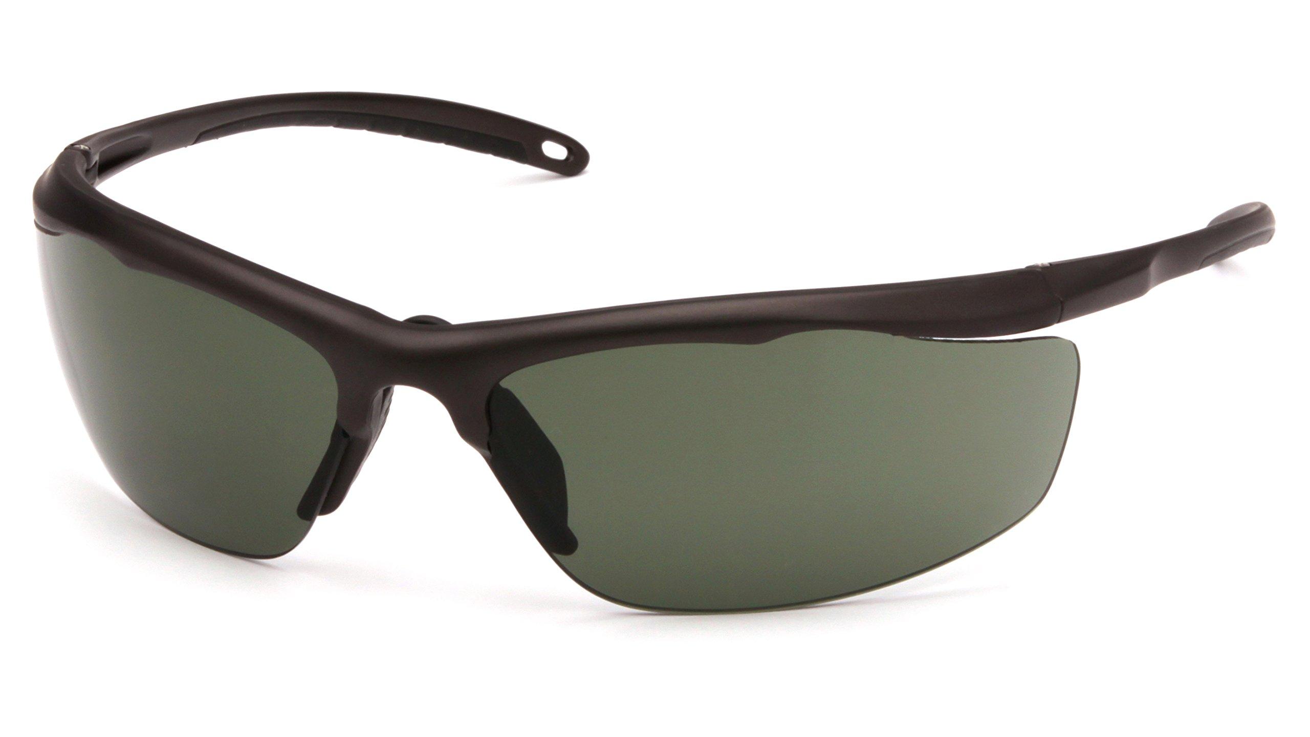 Venture Gear Zumbro Lightweight Sports Style Eyewear, Bronze Frame, Forest Gray Anti-Fog Lens by Venture Gear