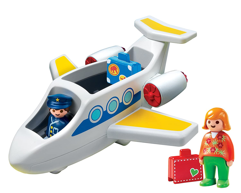Playmobil 6780 1.2.3 Jet: Amazon.co.uk: Toys & Games