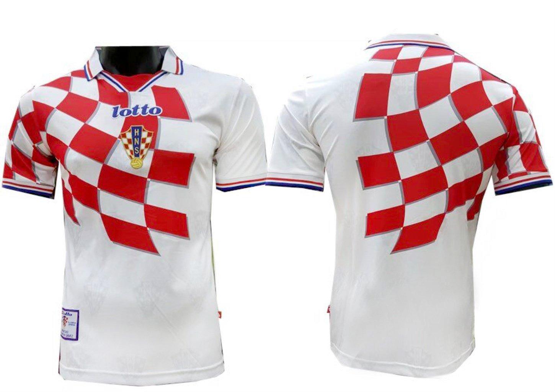 TI Soccer jersey Camiseta de fútbol TI Croacia. Copa del mundo de 1998 versión retro, Medium: Amazon.es: Deportes y aire libre